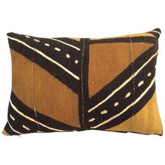 African Mud Cloth Pillow ($195) ❤ liked on Polyvore featuring home, home decor, throw pillows, african throw pillows, tribal throw pillows, neutral throw pillows and african home decor