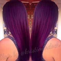 Purple hair, violet hair, purple Ombre, purple Balayage, violet Ombre, AVEDA hair color