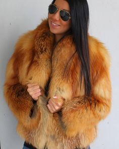red fox fur jacket …