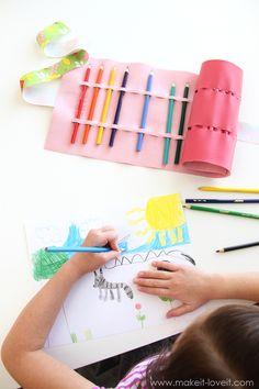 著書「縫う -  no愛」から撮影NO-SEW色鉛筆ロールアップしない(またはクレヨン、ペイントブラシ、など)。 ---それを作るとそれを愛する