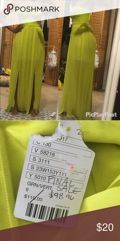 Reposh pretty neon green formal dress Brand new with tags. I bought this for an event and ended up using a different dress. Dresses Maxi