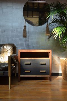 ABUELO NIGHTSTAND BY DLV DESIGNS | Originally inspired by an antique Mexican bureau, this collection focuses on mixing mediums. A mixture of saddle leather, rich woodworking, and subtle metal details, this collection blurs the lines between contemporary design and an antique heirloom. | http://masterbedroomideas.eu/ #modernnightstands
