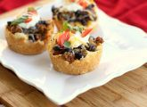 Taco-flavored savory cupcakes
