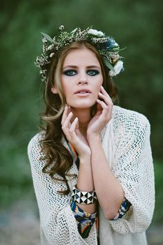 Floral crown, not just for brides 70s beauty pt 2 Jessie Alexis Photography
