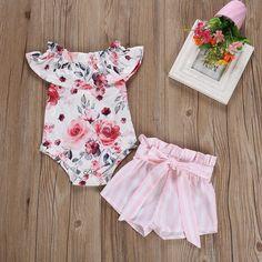 SSZZoo Toddler Kids Baby Girl T-Shirt Dress Short Sleeve Fox Cartoon Floral Casual Loose Sundress