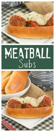 Meatball Subs | A marvelous sandwich filled with plump meatballs, marinara and melted Provalone from thatskinnychickcanbake.com @lizzydo #SundaySupper