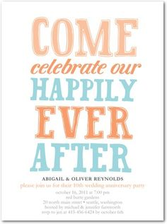 Anniversary Invitations Happily Ever - Front : Begonia