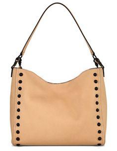 Mini studded leather hobo bag by Loeffler Randall. Slouchy leather hobo bag  framed with contrast 0d5e450c094e3