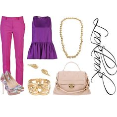{lookbook} Lady Bright Color, created by thefashionistyle