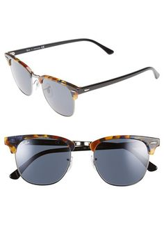 Ray-Ban 'Clubmaster' 51mm Sunglasses   Nordstrom