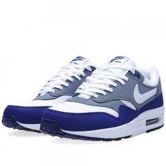 quality design e24c9 fc904 Nike Air Max 1 Chaussures Homme Essential Profond Royal Bleu Blanc Air Max  1,
