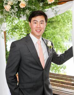 Necktie Peach  / Men's skinny tie / Wedding Ties / Necktie for Men FREE GIFT by TheBestBoysTies on Etsy