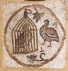 mosaico del siglo sexto que se encuentra en Madaba, Jordania.