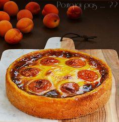 Pourquoi pas .... ??: Flan Pâtissier aux abricots Fruit Tart, Cheesecakes, Afternoon Tea, Panna Cotta, Pepperoni, Dessert Recipes, Dessert Ideas, Stuffed Mushrooms, Pizza