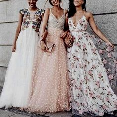 I would wear the two dresses with the low-cut necklines if they were altered.