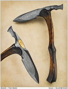 Ganesh's Blessing  - Indian War Axe interpretation - Tempest Craft § Blades and Sculptures § Outdoorman's Knives