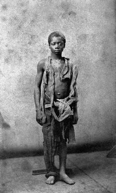 ca. 1860s --- Young Slave During Civil War --- Image by © CORBIS
