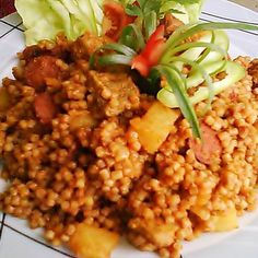 Pasta Noodles, Chana Masala, Risotto, Food And Drink, Lunch, Dishes, Ethnic Recipes, Skillet, Red Peppers