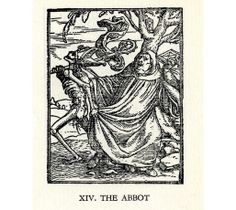XIV. The Abbot. Hans Holbein. from Lyons editions 1538 and 1549