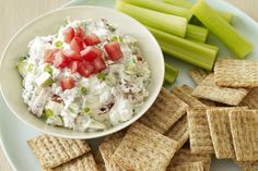 Inspired by Hollywood's famous Cobb salad, this dip is a must-try mix of blue cheese, avocado and bacon topped with tomatoes.