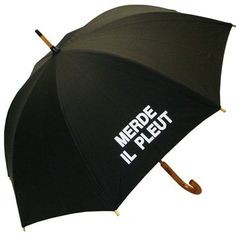 Merde Il Pleut Umbrella: I got the navy blue one for my mom, and she loved it! It's hilarious. I also want one for myself.