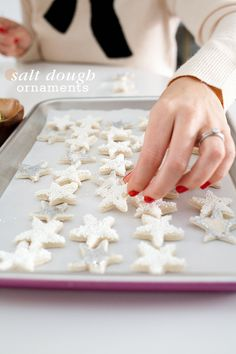 Mini Star Salt Dough Ornaments