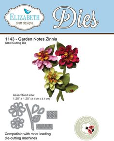 """Steel cutting die Assembled Size: 1.25"""" x 1.25"""" (3.1cm x 3.1cm) Compatible with most leading die-cutting machines Susan's Garden Club"""