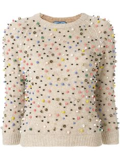 Prada cropped sleeve sweater