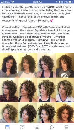 Ideas hair cuts curly natural curls products for 2019 Curly Hair Routine, Curly Hair Tips, Curly Hair Care, Short Curly Hair, Curly Hair Styles, Curly Hair White Girl, Style Curly Hair, Thick Frizzy Hair, Curly Perm