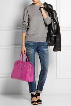 Alexander McQueen|The Heroine textured-leather tote|NET-A-PORTER.COM