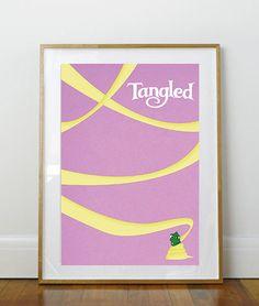 Disney's Tangled vintage style movie poster