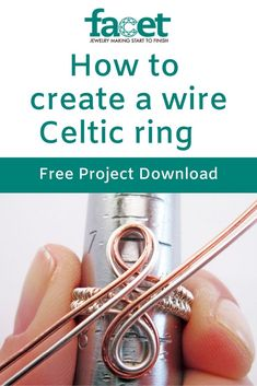 Celtic infinity ring - This lovely ring design requires only two gauges of wire, a ring mandrel and basic wirework tools. Wire Jewelry Rings, Wire Jewelry Designs, Wire Jewelry Making, Diy Jewelry Tutorials, Wire Earrings, Beaded Jewelry, Jewellery, Silver Jewelry, Bijoux Wire Wrap