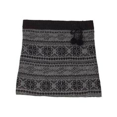 Women's Laundromat Eva Knit Stretch Skirt - Black ($75) ❤ liked on Polyvore  featuring