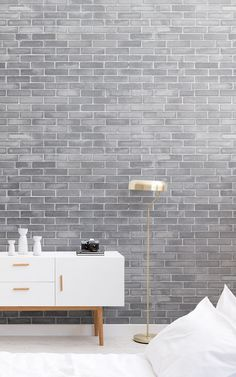 Welcome contemporary charm to your space with this grey brick wallpaper, a sleek brick wall design full of depth and detail. Contemporary Home Decor, Interior Design, Grey Brick, Grey Wallpaper, Faux Brick, Brick Wallpaper Mural, Mural Wallpaper, Wall Coverings, Industrial Flooring