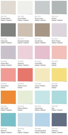 Pbteen Paint Colors From Sherwin Williams Liked On