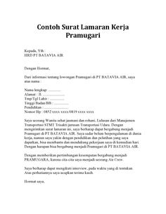 32 Free Download Contoh Surat Lamaran Kerja Via Job Fair Format Doc