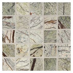 """Marble Mosaic Tile 1"""" Square 