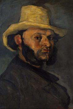 L'homme au chapeau de paille - Gustave Boyer, 1871, Cézanne