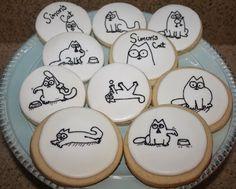 Simon's Cat cookies via Cupcake Adventures