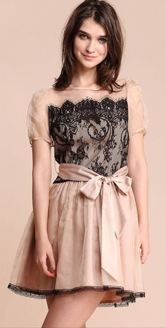 #Nude #Lace #Party #Dress <3
