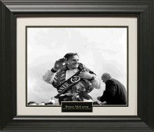 Bruce McLaren Photo Matted and Framed