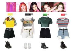 """BLACKPINK - AS IF IT'S YOUR LAST❤️💛💙💜💚"" by vvvan99 ❤ liked on Polyvore featuring Balenciaga, Courrèges, UNIF, House of Holland, Topshop, Chanel, Gucci, Alexander McQueen, Beaufille and River Island"