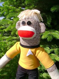 Captain Kirk Sock Monkey by DeedleDeeCreations on Etsy