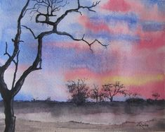 Image result for African Watercolour Landscapes Watercolor Landscape, Watercolours, Landscapes, African, Painting, Image, Art, Paisajes, Art Background