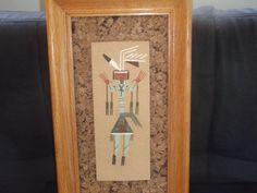 Vintage Navajo Indian Sand Art  Art God  by SocialmarysTreasures, $19.99