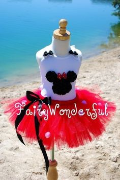 Minnie Mouse Inspired Short Sleeve Shirt or by FairyWonderful, $22.50