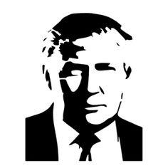 Donald Trump Stencil Face Stencils, Stencil Art, Stenciling, Donald Trump Art, Protest Posters, Dope Cartoon Art, Wood Burning Patterns, Scroll Saw Patterns, Marker Art
