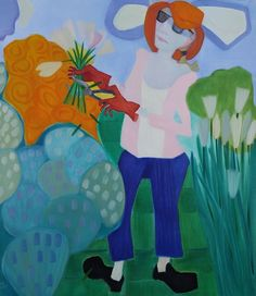 "Tough Love      Oil on canvas, 50x44"""