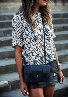 Printed Top #Summerstyle