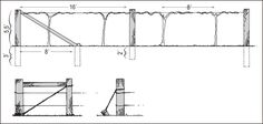 Construction details of a two-wire trellis and alternative methods of bracing end posts. Wire Trellis, Grape Trellis, Grape Arbor, Train System, Fruit Trees, Construction, Modern, Training, Trellis Ideas